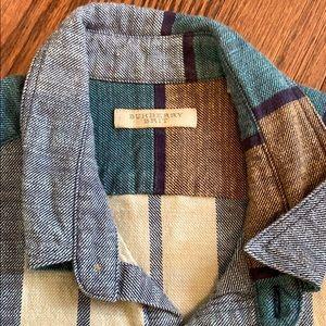 Burberry Brit button down/ flannel oxford